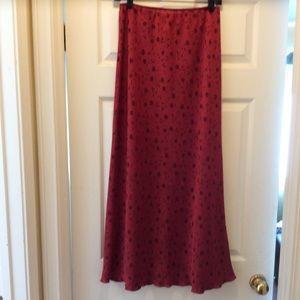Beautiful burgundy slip skirt